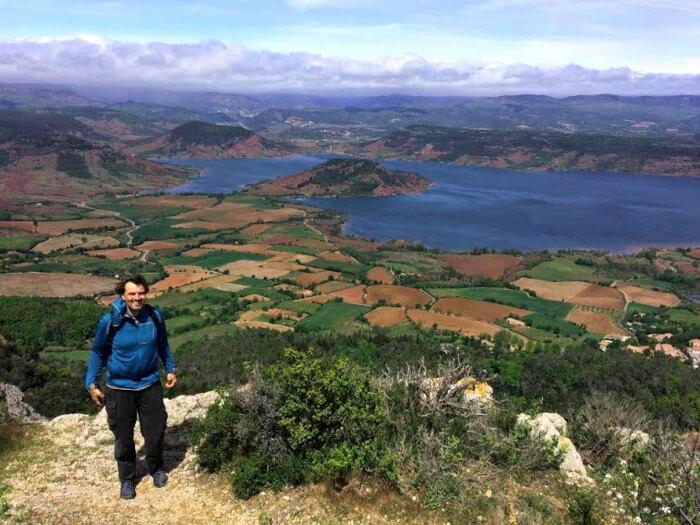 Urlaub in Südfrankreich - MIka am Salagou