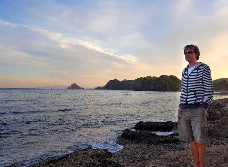 Urlaub in Südfrankreich - Mika am Meer