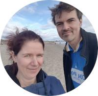 Montpellier Strand - Mika und ich in Le Grau-du-Roi
