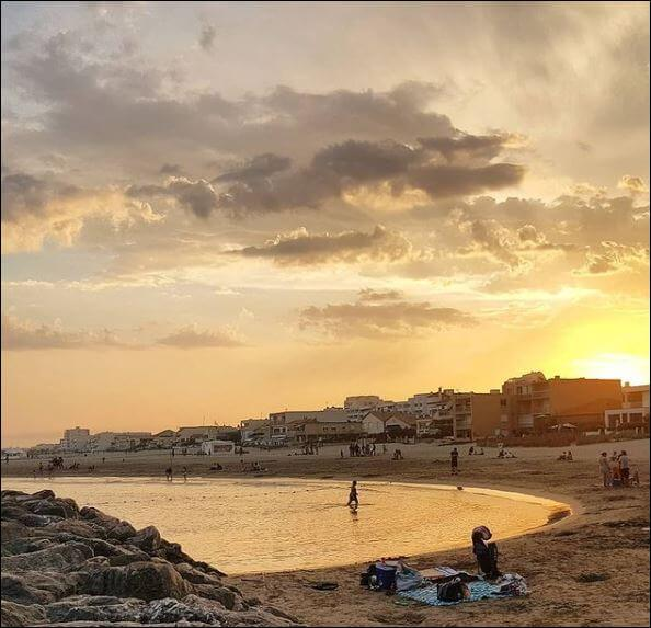 Der Strand von Carnon liegt nah bei Montpellier