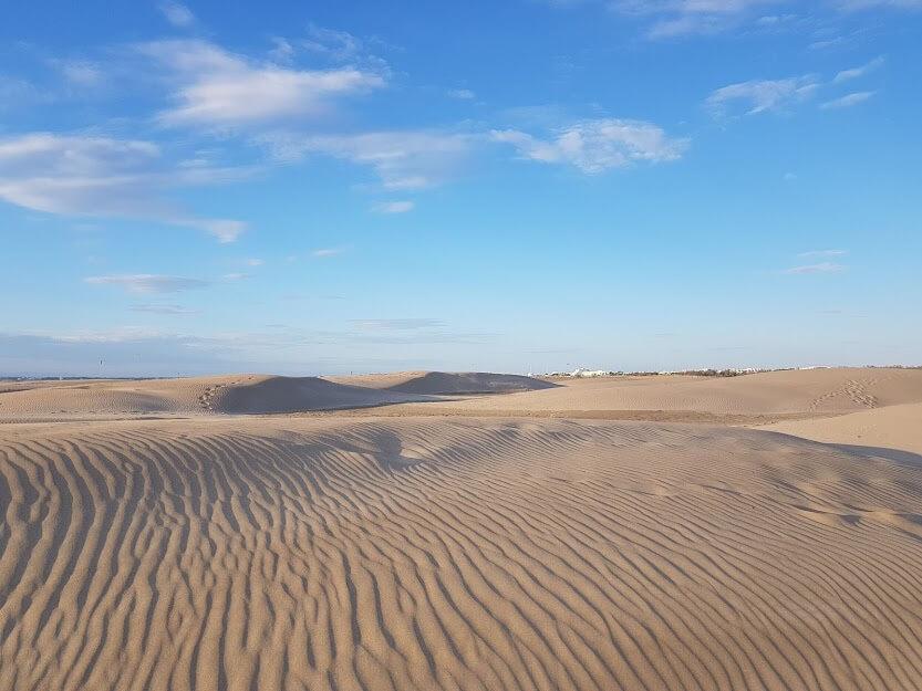 Der Strand-von-Espiguette liegt 35 km von Montpellier entfernt
