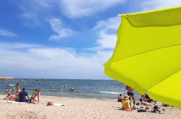 Der Strand von Palavas ist nicht weit von Montpellier entfernt