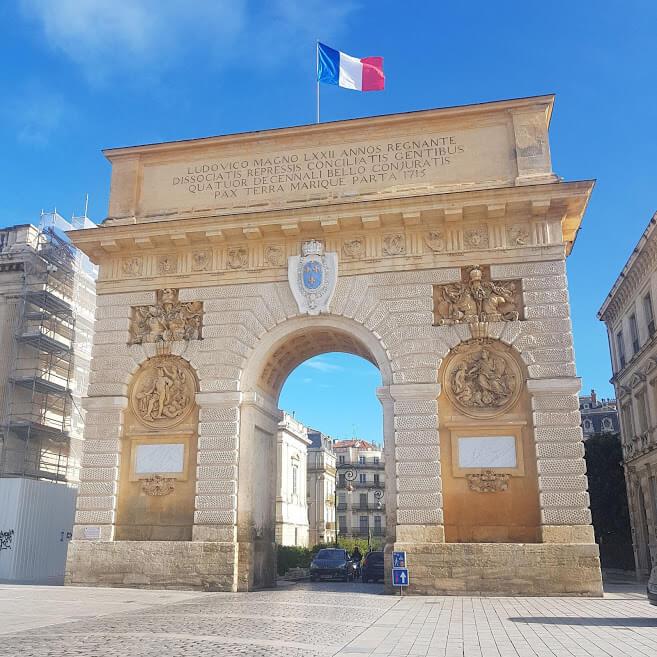 Montpellier Sehenswürdigkeiten - Arc de Triomphe