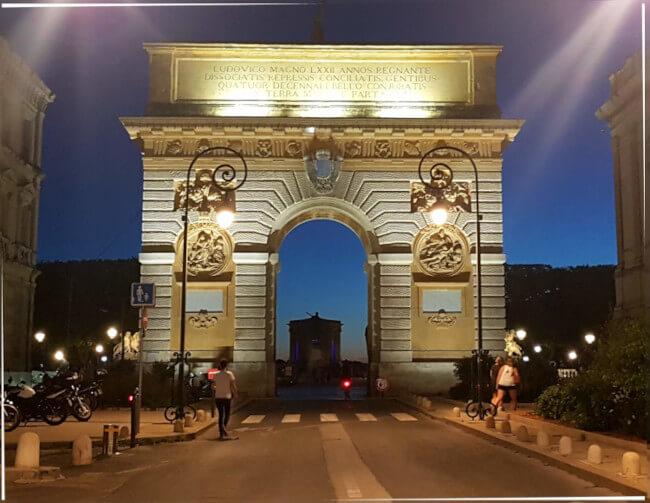 Arc de Triomphe - Einer der beliebtesten Sehenswürdigkeiten von Montpellier
