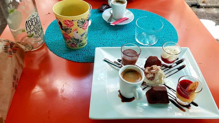 Französische Nachspeisenn - Café Gourmand