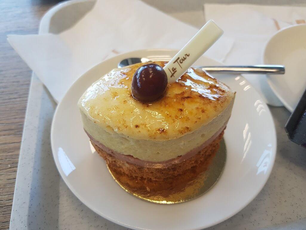 Französisches Essen auch das Dessert ist sehr wichtig